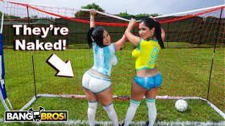 BANGBROS – Sexy Latina porn industry stars With Big donks have fun Soccer And Get Fucked